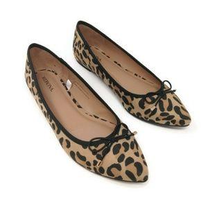 Merona nwot leopard pointed toe flats 8m